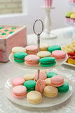 Sweets on a plate. In a candy bar Royalty Free Stock Image