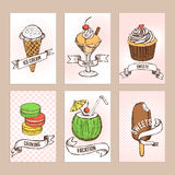 Sweets posters template Stock Photography