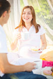 Sweets pregnant morning Stock Images