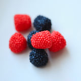 Sweets. Raspberry sweets close up, selective focus Royalty Free Stock Image
