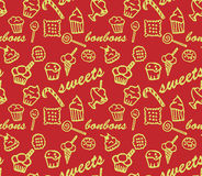 Sweets red  pattern Royalty Free Stock Photos