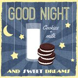 Sweets retro poster Royalty Free Stock Photos