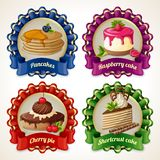 Sweets ribbon banners Stock Photos