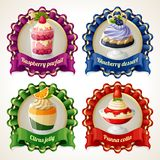 Sweets ribbon banners Stock Image
