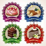 Sweets ribbon banners Stock Images