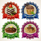 Sweets ribbon banners Royalty Free Stock Image