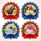 Sweets ribbon banners Royalty Free Stock Photo