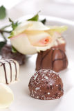 Sweets and rose Royalty Free Stock Photos