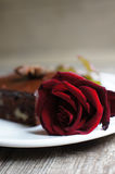 Sweets and rose Royalty Free Stock Images