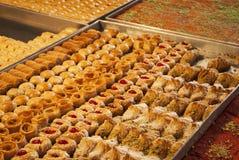Sweets on sale in the Carmel Market in Tel-Aviv, Israel Royalty Free Stock Photo