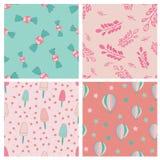 Sweets seamles pattern design set royalty free illustration