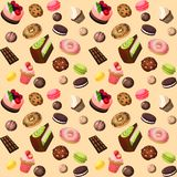 Sweets seamless background Royalty Free Stock Photo