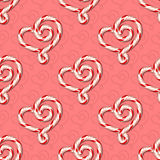 Sweets seamless pattern. Seamless background with heart shaped candies. Vector illustration Stock Photography