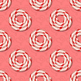 Sweets seamless pattern. Seamless background with spiral candies. Vector illustration Stock Photography