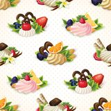 Sweets seamless pattern Stock Image