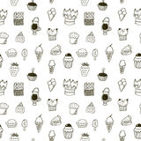 Sweets seamless pattern Royalty Free Stock Photography