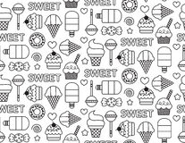 Sweets seamless pattern. Sweets Seamless Repeat Pattern Vector Illustration Stock Photography