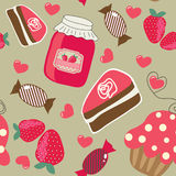 Sweets. Seamless retro background Stock Photo