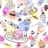 Sweets seemless pattern Royalty Free Stock Images