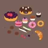 Sweets set vector illustration