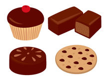 Sweets set Royalty Free Stock Images