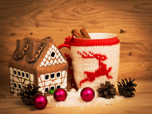 Sweets And Spices. Christmas Decorations. Wooden Background. Stock Photography