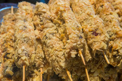 Sweets with sprinkles on stick closeup.  Stock Images