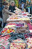 Sweets stall in Bricklane market Stock Images