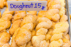 Sweets stall on market counter Royalty Free Stock Image