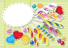Sweets sticker background Royalty Free Stock Images
