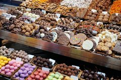 Sweets store at market Stock Photography
