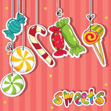 Sweets on strings Royalty Free Stock Photo