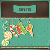 Sweets on strings. Royalty Free Stock Photography