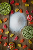 Sweets and sugar Royalty Free Stock Photography
