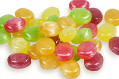 Sweets sugar candies. Multi-coloured sweets sugar candies on a white background Stock Photography