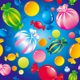 Sweets and sugar candies. Seamless background with bright multi-coloured sweets and sugar candies Stock Photography