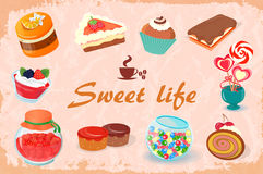 Sweets for the sweet life royalty free illustration