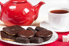 Sweets for tea, biscuits, cakes Royalty Free Stock Images
