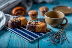 Sweets and tea Stock Images