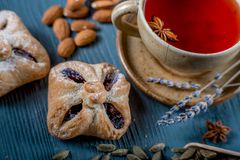 Sweets and tea Royalty Free Stock Photography