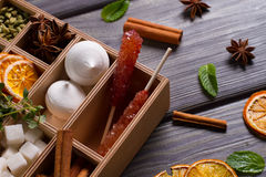 Sweets for tea. Royalty Free Stock Images