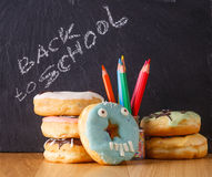 Sweets with text place on slate Stock Photo