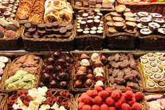 sweets truflowi czekolady odizolowanych Zdjęcia Royalty Free
