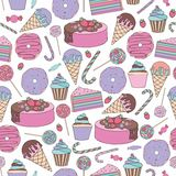 Sweets. Vector seamless pattern for design Royalty Free Stock Photography