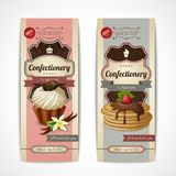 Sweets vintage banners vertical Royalty Free Stock Images