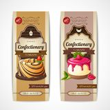 Sweets vintage banners vertical Royalty Free Stock Photography
