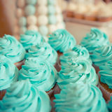 Sweets on the wedding table. Vintage color. Stock Photos