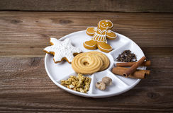 Sweets in a white plate Stock Images