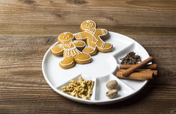 Sweets in a white plate Royalty Free Stock Photography