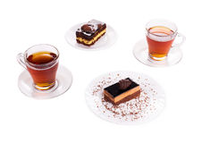 Sweets on a white plates Royalty Free Stock Image